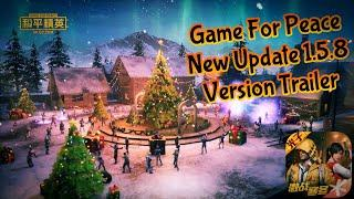 GAME FOR PEACE(PUBGM CHINESE VERSION) 1.5.8 NEW UPDATE TRAILER NEW DRONE AND EXTREME COLD MODE