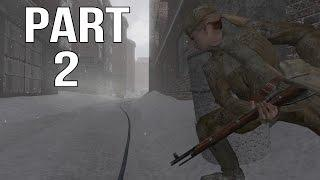 Call of Duty 2 Gameplay Walkthrough Part 2 - Russian Campaign - Not One Step Back 1/2