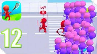 Move.io: Move Stop Move - Stickman Crowd 3D Прохождение Часть 12 | Андроид/iOS Геймплей