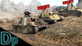 Spy Behind The Enemy Line - War Thunder T-V (Russian Panther)   Gameplay