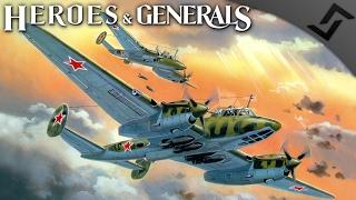 Pe-3 High Speed Bomber! - Heroes and Generals - Russian Heavy Fighter Gameplay